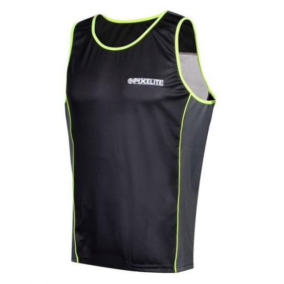 Proviz PixElite Mens Running Tank Top - Black/Green