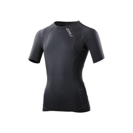 2XU Youth Compression Short Sleeve Top - Black