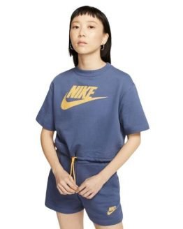 Nike Sportswear Icon Clash Womens T-Shirt - Diffused Blue/Laser Orange