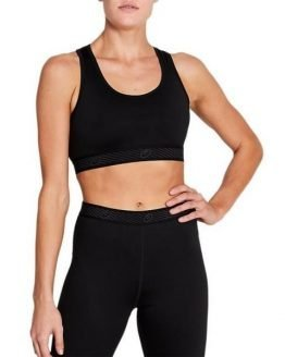 Asics Essential Logo Womens Sports Bra - Performance Black