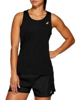 Asics Silver Womens Running Tank Top - Black