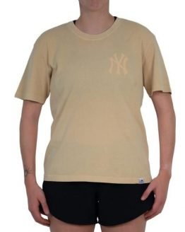 Majestic Athletic New York Yankees Elle Boxy Womens Baseball T-Shirt - Straw