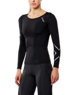 2XU Womens Thermal Compression Long Sleeve Top - Black/Silver
