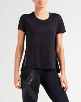 2XU XVent G2 Womens Training T-Shirt - Black/Multi Colour Reflective