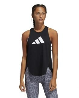 Adidas 3 Bar Logo Womens Training Tank Top - Black/Grey/White