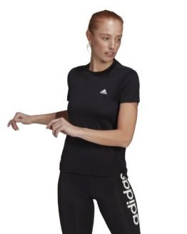 Adidas 3-Stripes Sport Womens Training T-Shirt - Black/White