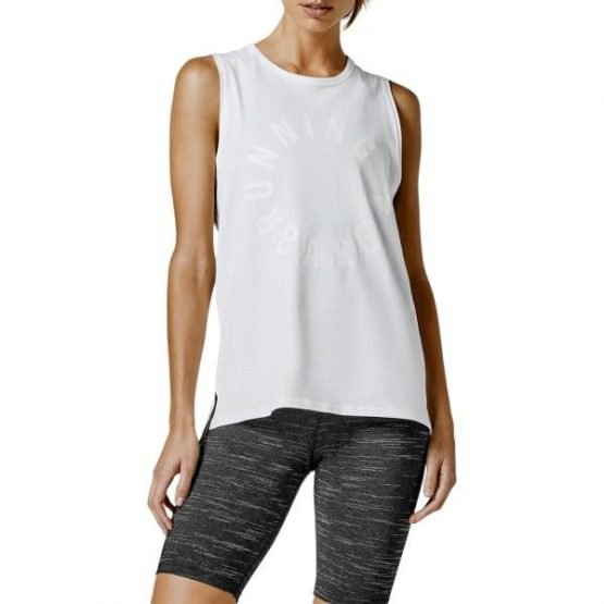 Running Bare Easy Rider Womens Muscle Tank Top - Ivory