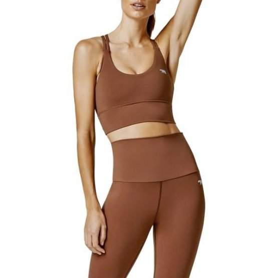 Running Bare Lotus Womens Sports Bra - Toffee