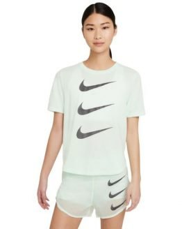 Nike Run Division Womens Running T-Shirt - Barely Green/Black