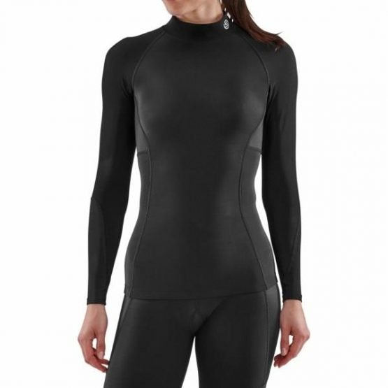 Skins Series-3 Womens Compression Thermal Long Sleeve Top - Black
