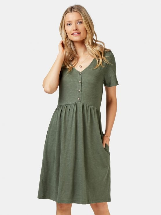 Isabel Jersey Dress Thyme