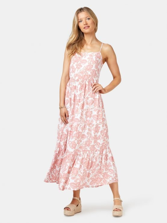 Nova Tiered Cami Dress Silhouetter Floral