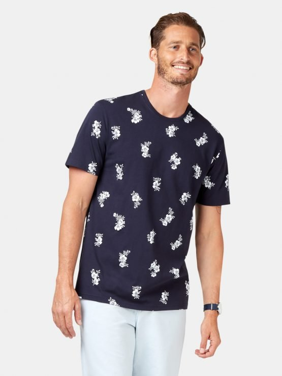 SS Franco All Over Print Tee Ink Multi