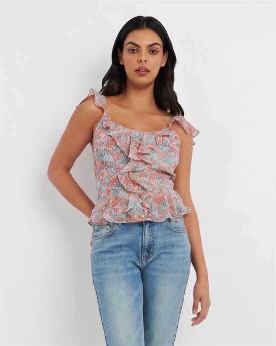 Coco Floral Ruffle Blouse