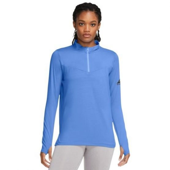 Nike Element Womens Trail Running Midlayer Top - Aluminum/Reflective Silver