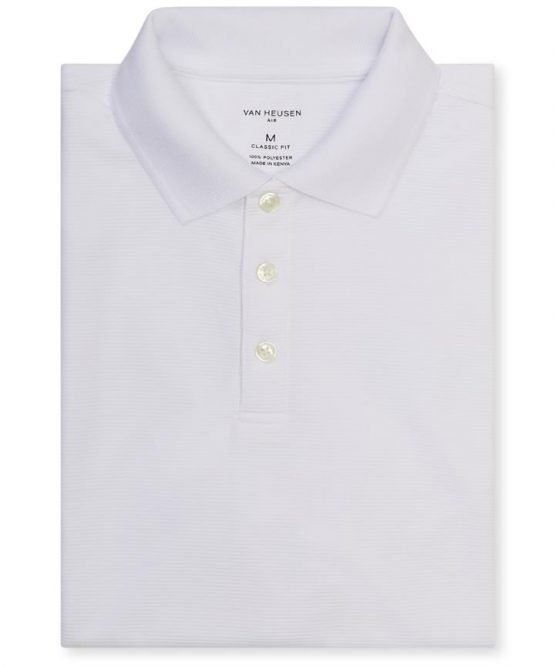 Mens Polo Shirts Polo Top Solid White M