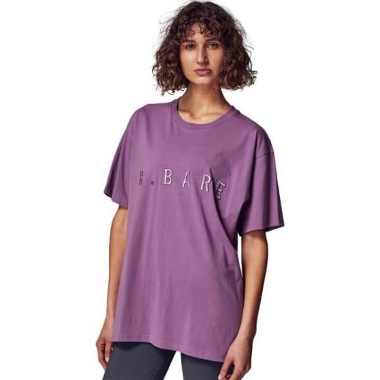 Running Bare Hollywood 90s Relax Womens T-Shirt - Violet